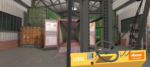 Imagen virtual de un almacén.