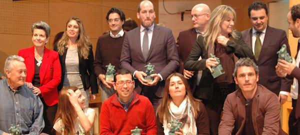 Fotografía de los premiados.