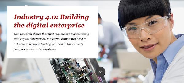 Portada del informe Industry 4.0 Building the digital enterprise