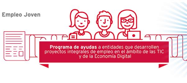Cartel del programa Profesionales Digitales Empleo Joven