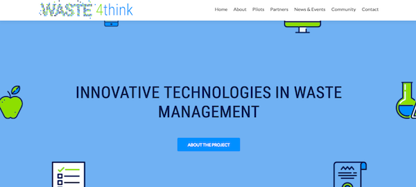 Portal web del proyecto Waste4Think