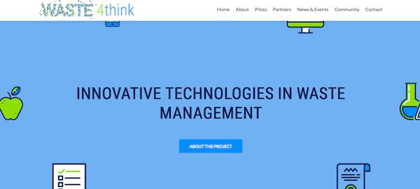 Portal web del proyecto Waste4Think