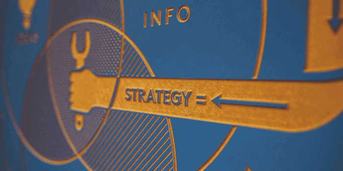 Cartel de estrategia de marketing.