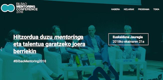 Portal del encuentro Bilbao Mentoring Conference