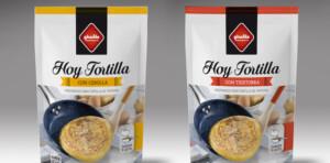 Packaging del producto de tortilla de patatas preparada.