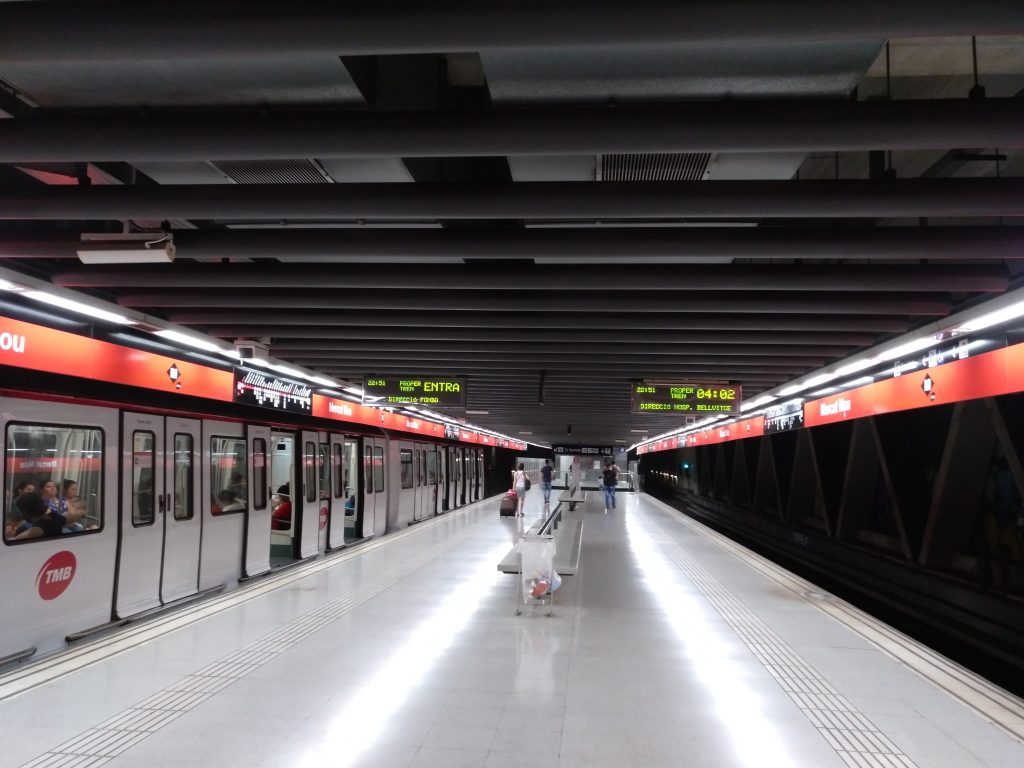 Sener_Andenes en el metro de Barcelona