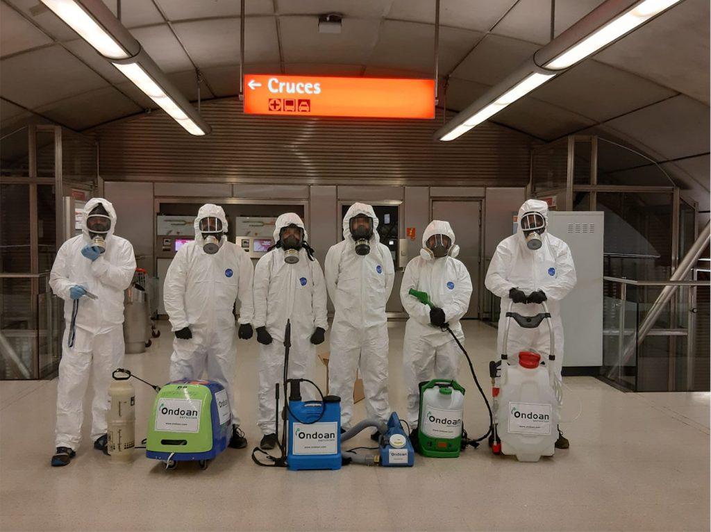 Ondoan duplica su actividad de desinfección de espacios debido al Covid-19