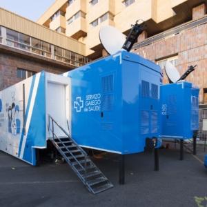 Unidad móvil de Alegria Activity para el Servicio Gallego de Salud