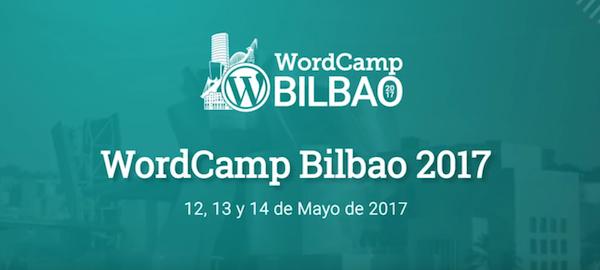 cartel del encuentro WordCamp Bilbao.
