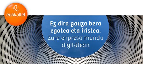 cartel de la jornada tecnológica organizada por Euskaltel.
