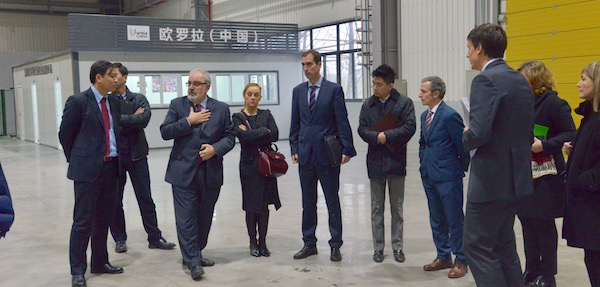 Visita institucional del Gobierno Vasco en la planta de Urola en China