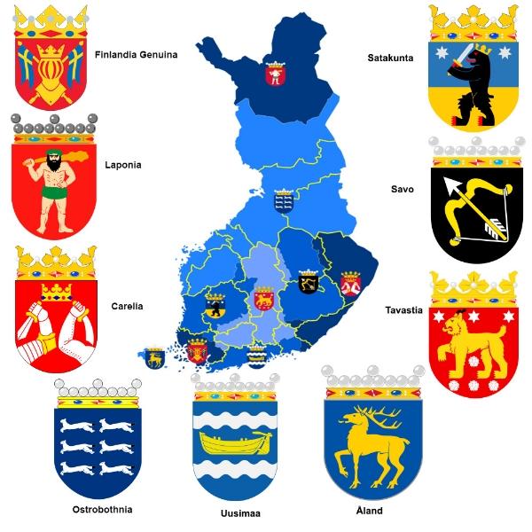 Finlandia provincias