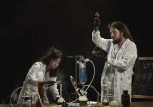 Jone Renteria y Raúl Pérez, director científico de Sibaric Republic